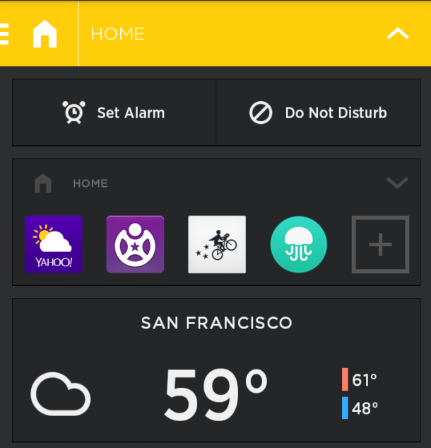 Avaite Spaces HomeScreen