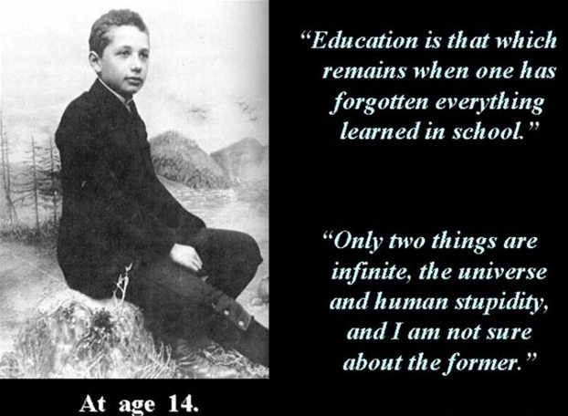 Albert Einstein at the age of 14