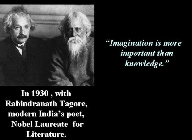 Albert Einstein and Rabindra Nath Tagore